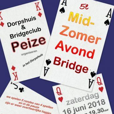16 juni MidZomerAvondBridge