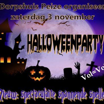 3 november: Halloweenparty voor de basisschoolkinderen