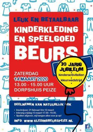 AFGELAST Kinderkleding en speelgoedbeurs 14 maart