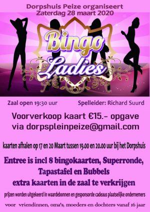 AFGELAST Ladies Bingo 28 maart 2020