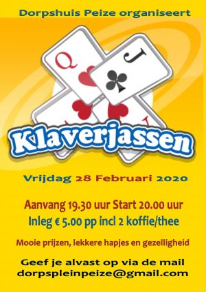 Klaverjassen 28 februari